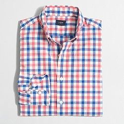 $30 J. Crew Factory washed shirt in multicolor tattersall