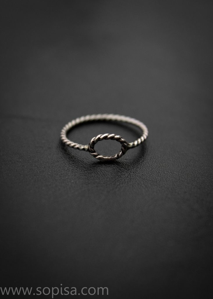 Melissa twisted ring. The ring is made from sterling silver. Buy it on: www.sopisa.com #ring #sterlingsilverring #oxidizedring #twisted #handmade #handmadering