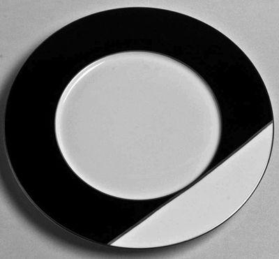 J.L Coquet -Twiggy Black & White Platinum Dinner   Twiggy Black & White Platinum Dinner  by J.L. Coquet  Diameter 10.5  SKU: 604350003