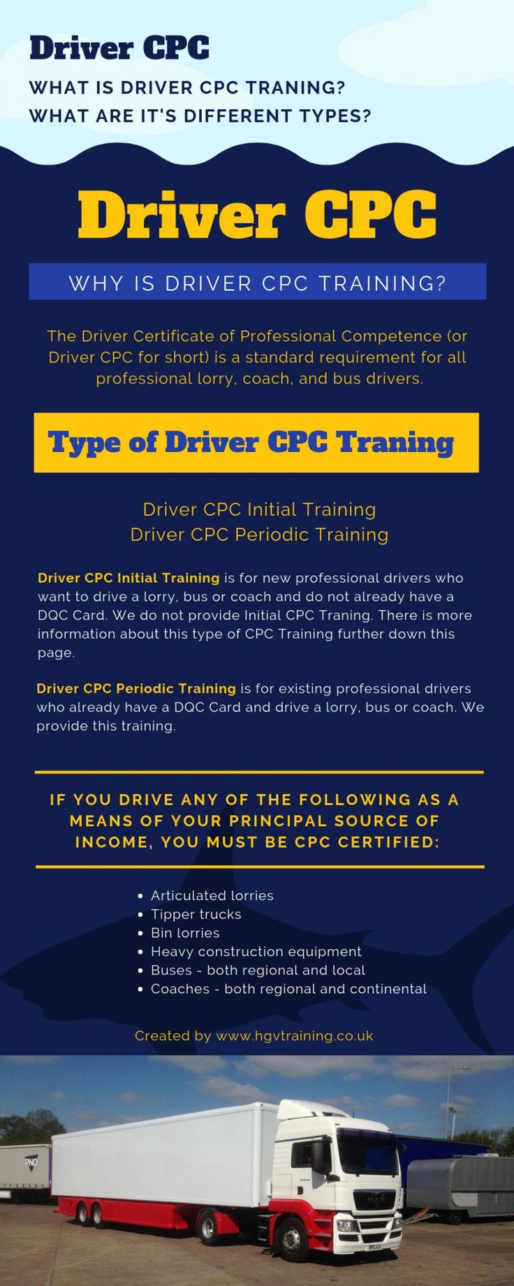 cpc training driver types different courses ly visual