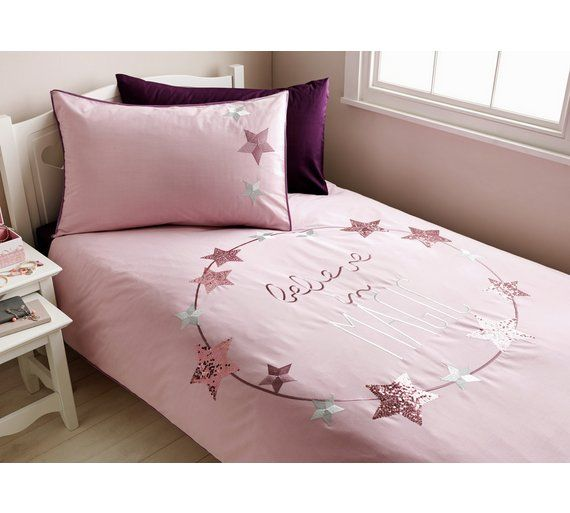 Buy Collection Believe Cotton Rich Bedding Set Toddler At Argos Co Uk Your Online Shop For Nursery Bedding Sets B Nursery Bedding Sets Nursery Bedding Bed