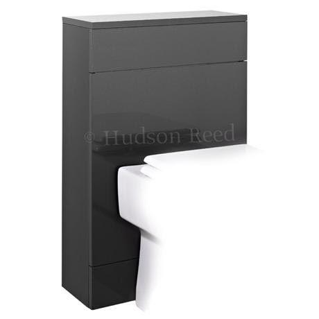 Hudson Reed Memoir Back to Wall WC Unit W500 x D200mm - Gloss Grey - FME010