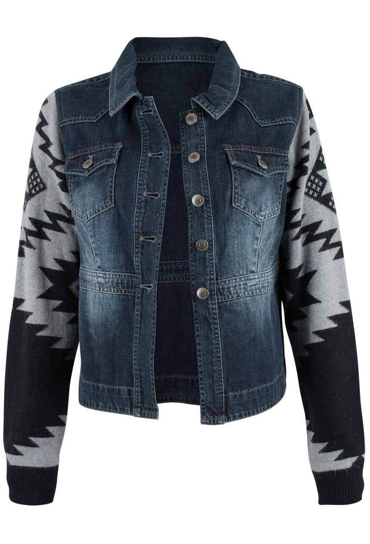 Pinto Ranch - Ryan Michael Denim and Sweater Jacket, $148.00 (http://www.pintoranch.com/ryan-michael-denim-and-sweater-jacket.html)