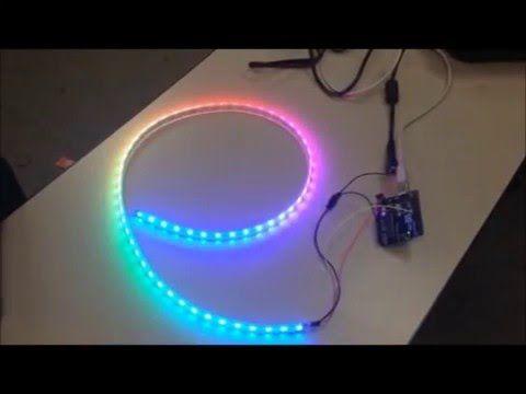 Adafruit Neopixel Digital RGB LED Strip - Arduino UNO - YouTube