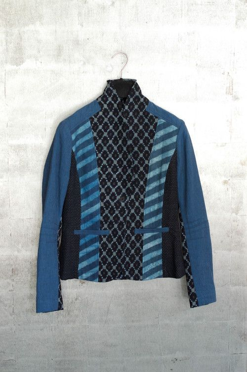 Artfully pieced cotton ikat jacket