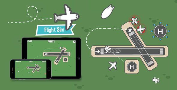 Flight Sim - HTML5 Game - Price $25