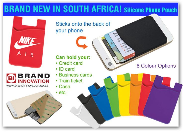 16 best giveaways images on pinterest giveaways south africa and silicone phone pouch suppliers in south africa this is a stick on card holder for your phone we supply promotional silicone phone pouches with branding reheart Choice Image