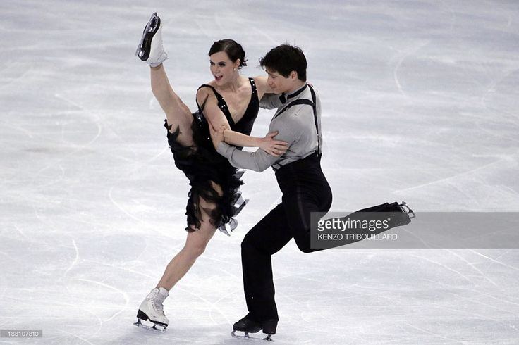 Canadian Tessa Virtue and Scott Moir perform during the figure skating event at the 2013 Eric Bompard trophy on November 15, 2013 at the Bercy Palais-Omnisport (POPB) in Paris.