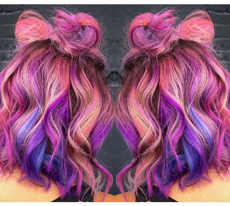 Galaxy pulp riot hair color by @nealmhair