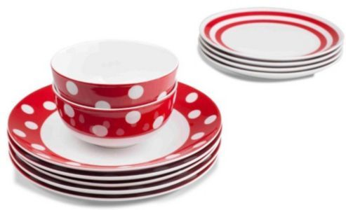 Sabichi 12 Piece Minnie Dinnerware Set