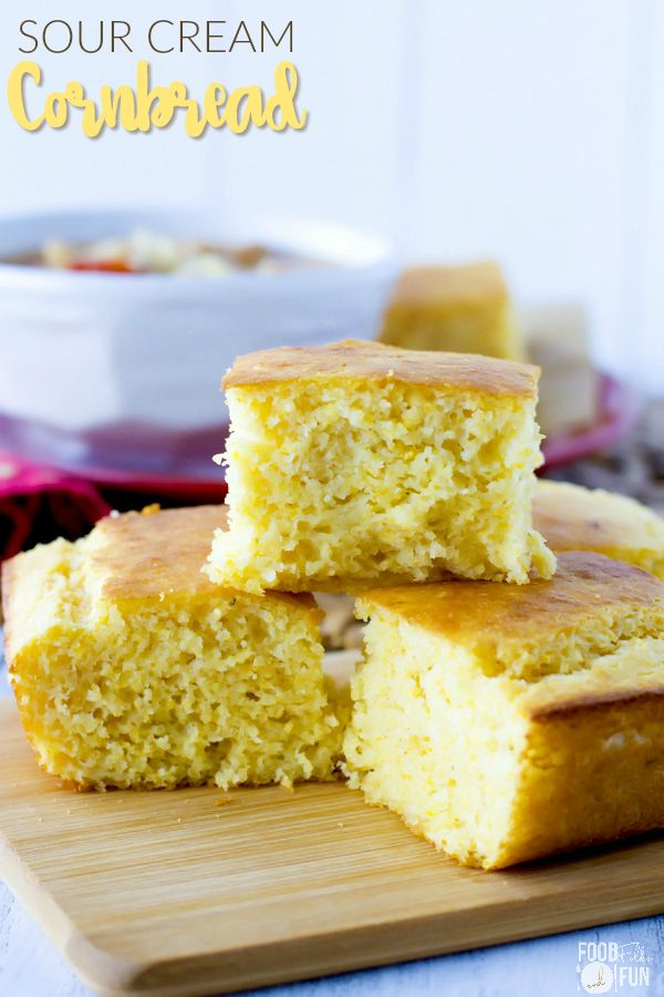 This Sour Cream Cornbread recipe is so moist, delicious, and not ...