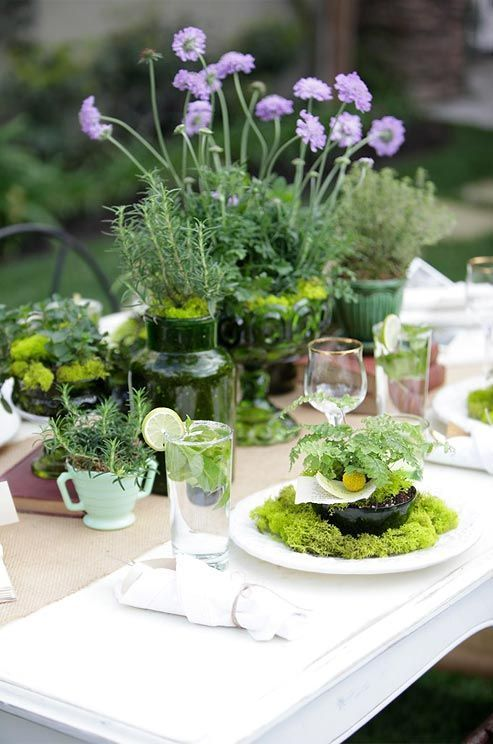 find this pin and more on table flowers by herbs in wedding