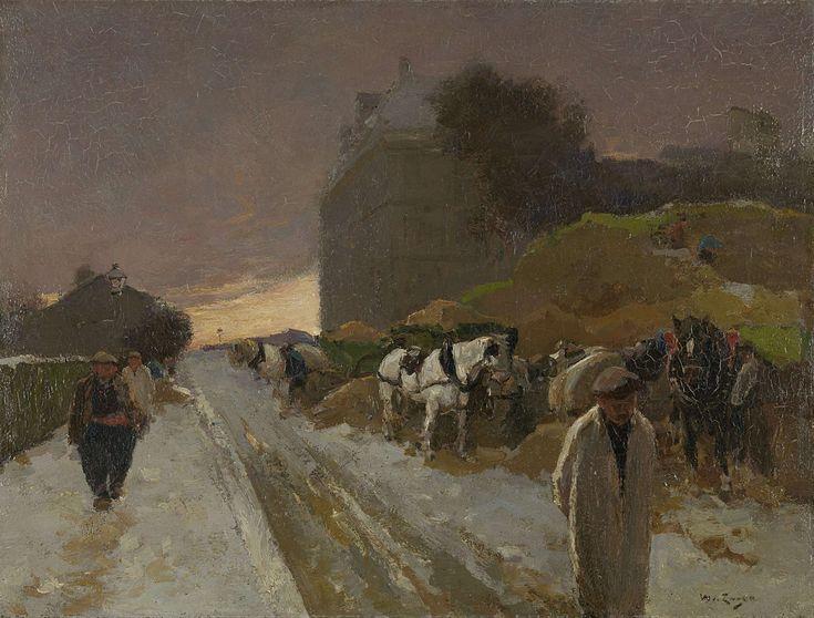 Street in Montmartre, Paris, in the Winter, Willem de Zwart, 1885 - 1931