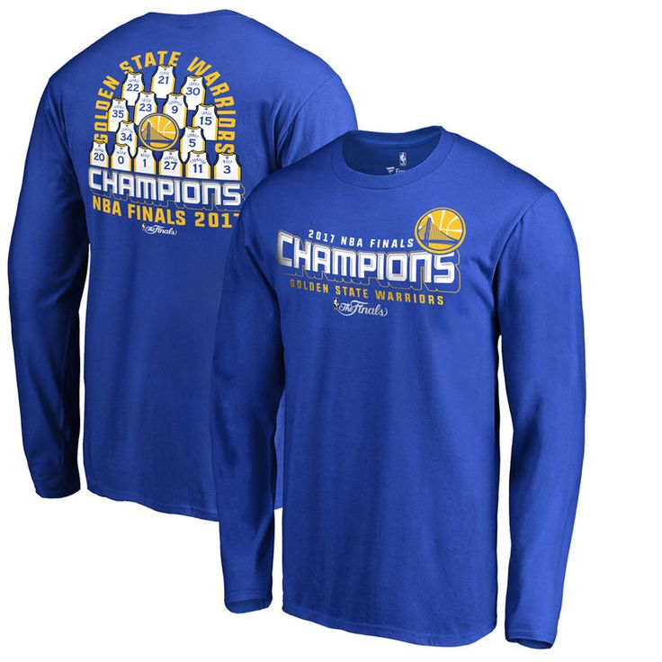 Golden State Warriors Fanatics Branded 2017 NBA Finals Champions Roster Long Sleeve T-Shirt - Royal