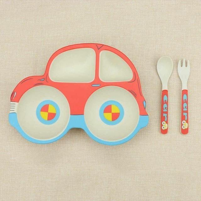Lovely Car Shape Children S Tableware Set 儿童