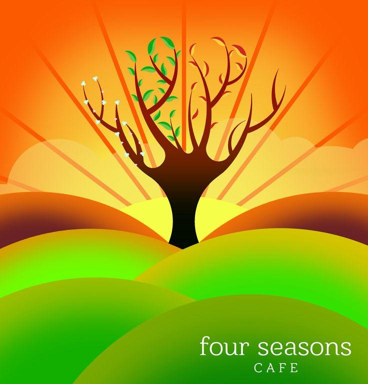 Four Seasons Cafe #LogoDesign #GraphicDesign #Branding #Design #Logo #Creative #Art
