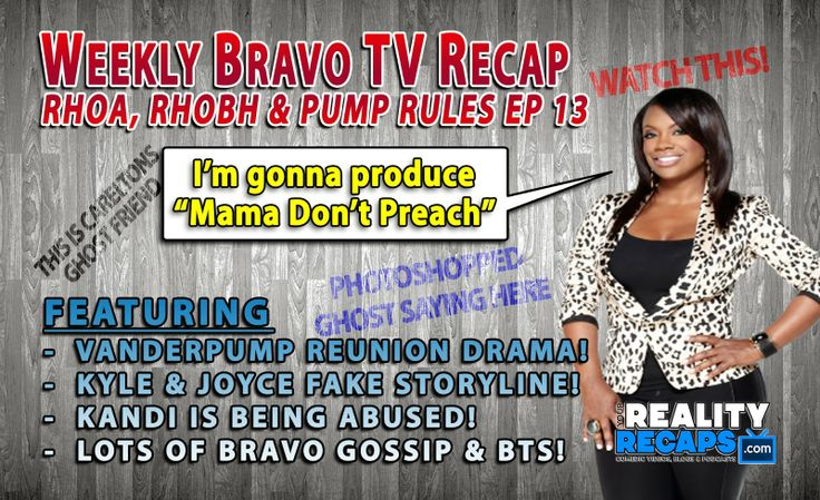 Bravo Weekly Comedic Recap EP 13:  RHOA, RHOBH & Vanderpump Rules Reunion!  It's the end of Vanderpump… thank goodness!  Meanwhile over in Atlanta Kandi's Mom is still being somebody who deserves a good (fake) curse whipped up by Carlton from Beverly Hills.    #Bravo #RHOA #RHOBH #PumpRules FANS FOR AN ENHANCED VIEWING EXPERIENCE WATCH HERE:  www.YourRealityRecaps.com/Bravo