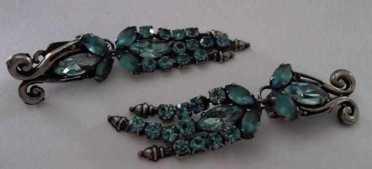 Elegant Danny Pollak 3 Strand Clip On Earrings