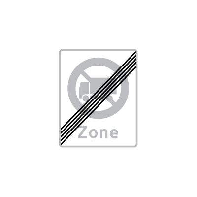 Ophør af zone med lastbil forbudt E 69,5