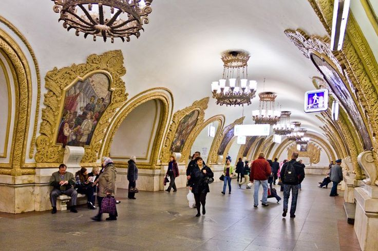 Moscow Metro's Stunning Stations #Moscow #Metro #Architecture #Travel #Creative