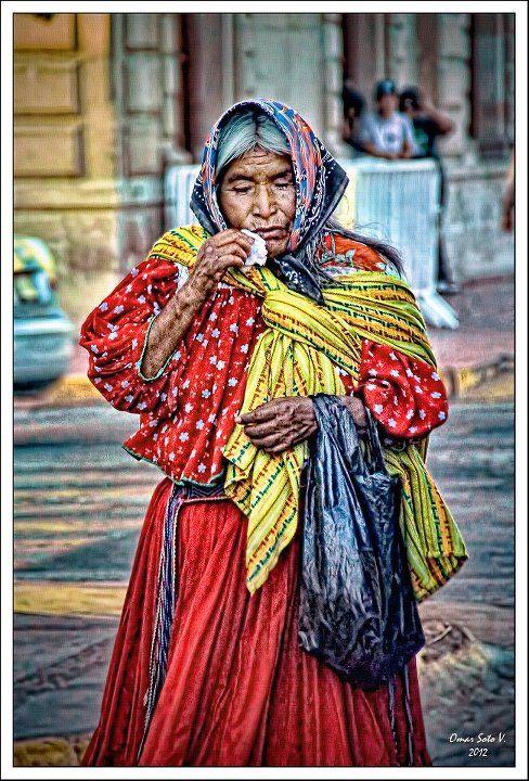 Mujer tarahumara,de la sierra de Chihuahua.Mexico.