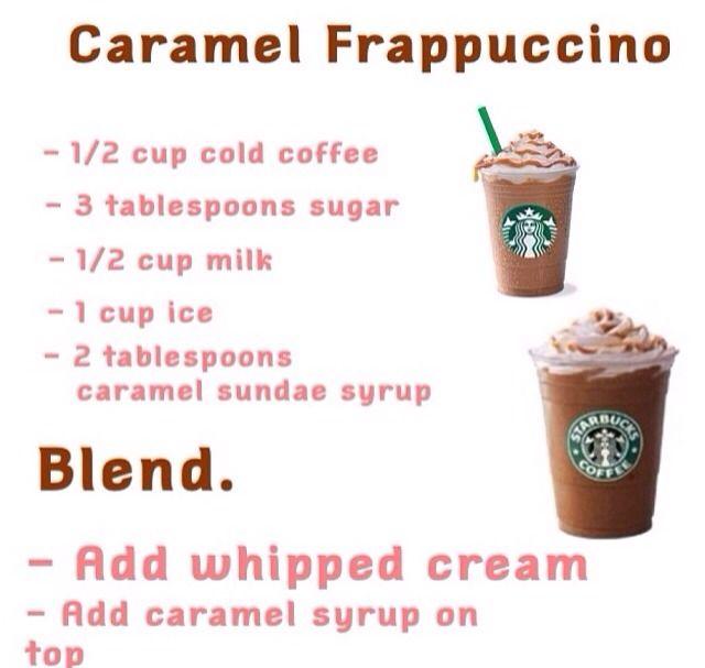 How To Make A Home Made Caramel Frapp 233 From Starbucks Starbucks Recipes Frappe Recipe