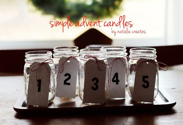 simple advent candles diy