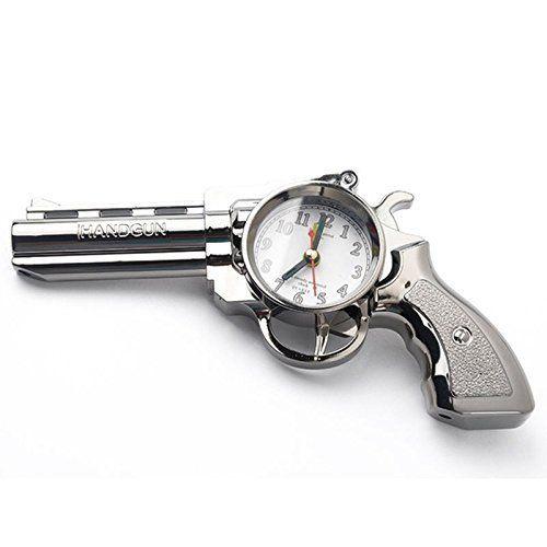 Walid-Novelty Pistol Gun Shape Alarm Clock Desk Table Home Office Decor  #Alarm #Clock #Décor #Desk #Home #Office #Pistol #RusticMantelClock #Shape #Table #WalidNovelty The Rustic Clock