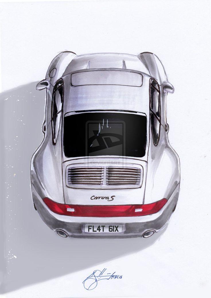 """Hindsight"" - Porsche 993 illustration by Propellorhead"
