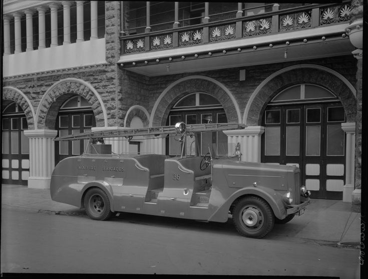 235822PD: Fire engine no. 36, 1951.  http://encore.slwa.wa.gov.au/iii/encore/record/C__Rb2305258__S235822PD__Orightresult__U__X3?lang=eng&suite=def
