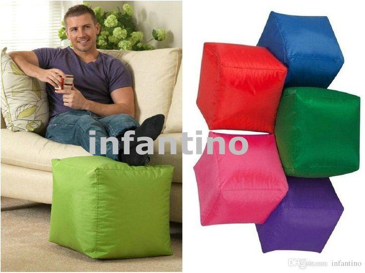 Lovely Bean Bags Footstool Waterproof Pouffe Pouf Beanbag Furniture Small Bean    Kids Bean Bags