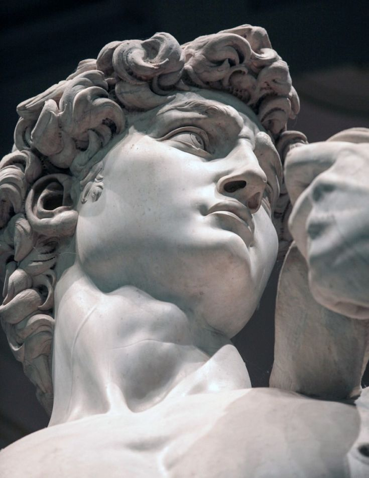 View of David's face