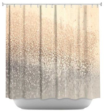 Gatsby Gold Shower Curtain contemporary shower curtains