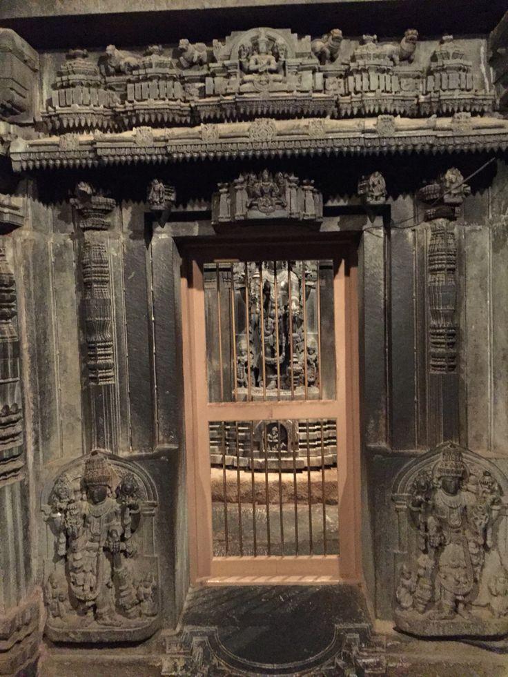 The Krishna temple at Somanathapura. Beautiful stone sculptures from Hoysala period