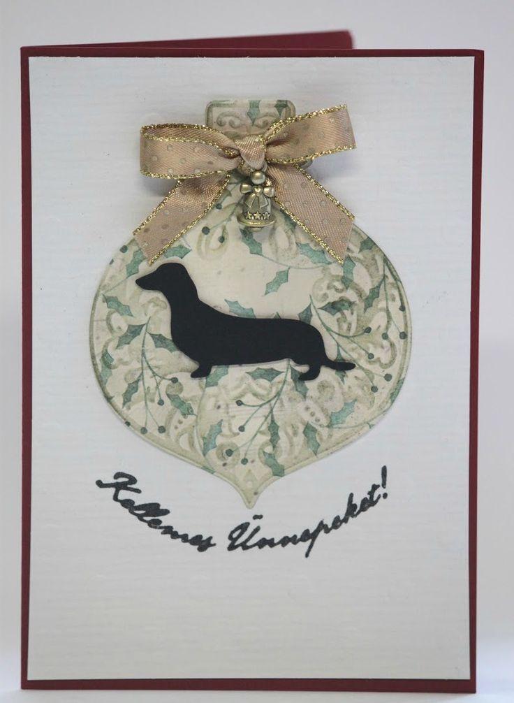 dachshund xmas card