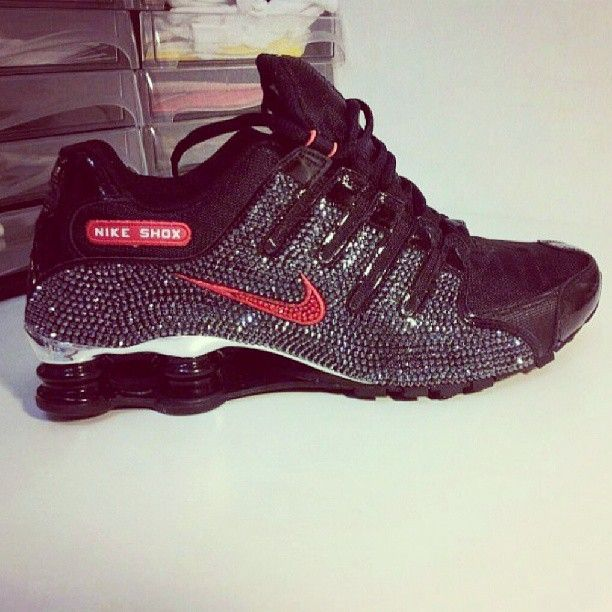 067961a5e19 Bedazzled Nike Shox. Please