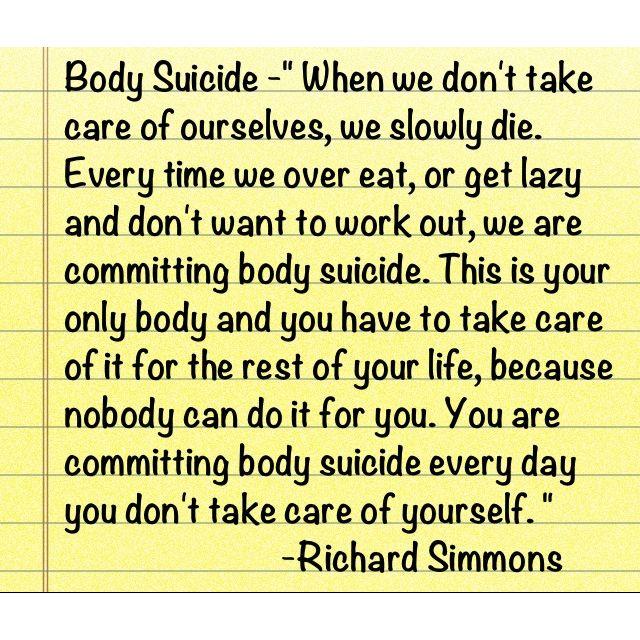 "Richard Simmons said this on ""The Doctors"" today."