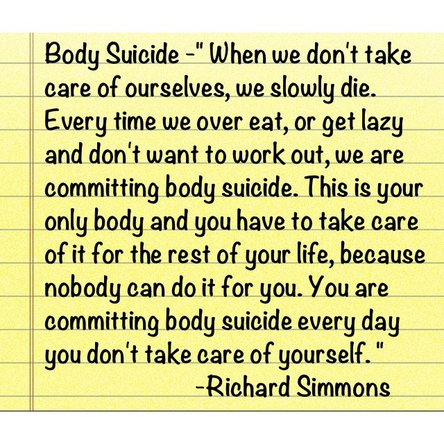 "Richard Simmons said this on ""The Doctors"" today."