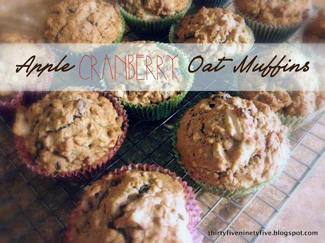 Apple Cranberry Oat Muffis | Breakfast Foods | Pinterest