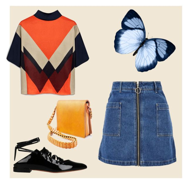 """""""#orange 🍊"""" by stacyk01 on Polyvore featuring мода, Mulberry, Topshop, Givenchy и Street Level"""