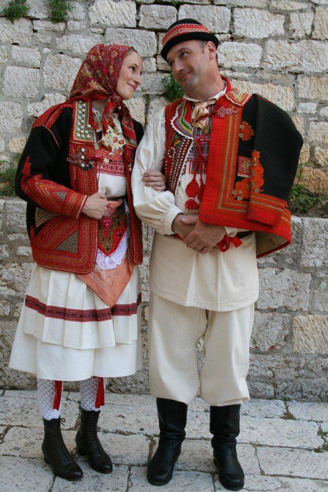 Šestine - Croatia, men's and women's costume