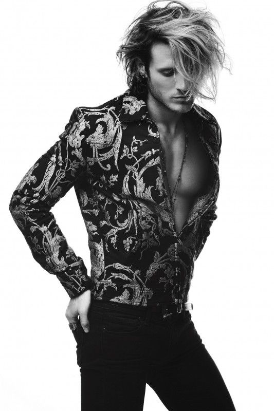 Dougie Poynter- Louie Banks- Notion Magazine  Love the long hair @jacobjameshamu