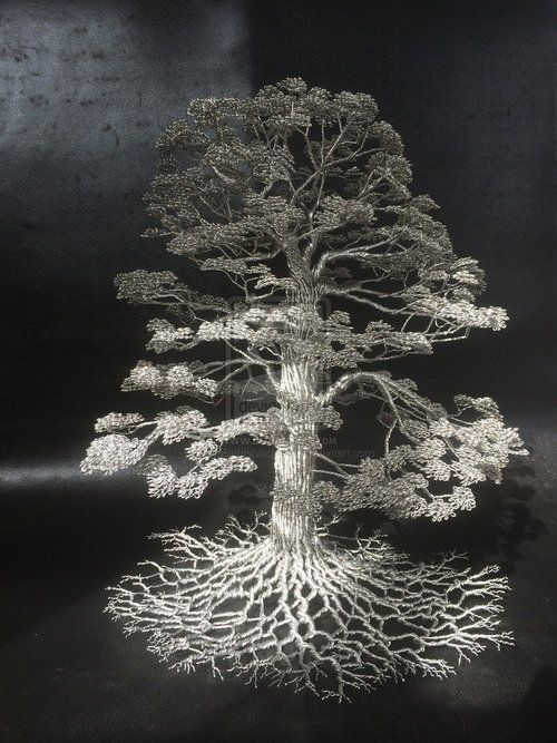 Wire Trees Sculptures by Clive Maddison