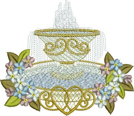 Sue Box Creations | Download Embroidery Designs | 15 - Fountain