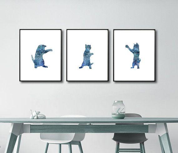Cats Nursery Art Nursery Cats Prints Baby Cats Prints by QPrints