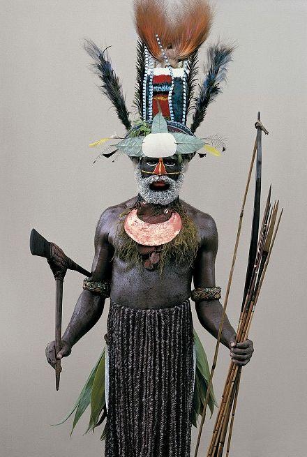 New Guinea man (Photo: Malcolm Kirk, Man as Art)