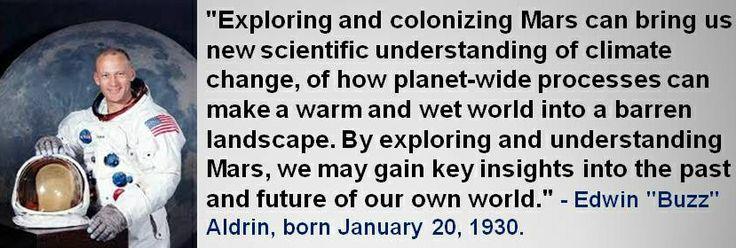 "Edwin ""Buzz"" Aldrin, born January 20, 1930. #EdwinBuzzAldrin #JanuaryBirthdays #Quotes"