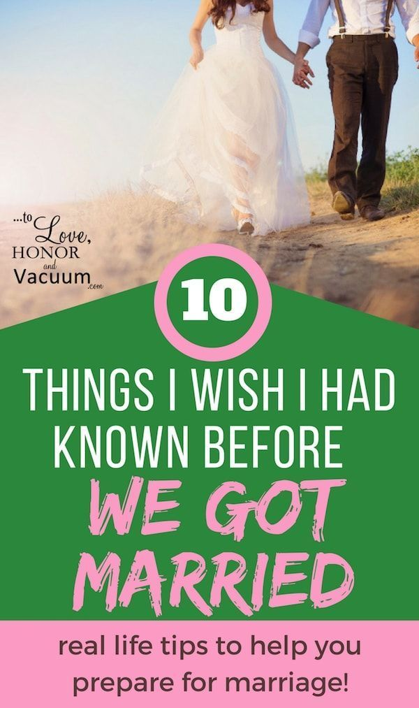 Preparing for Marriage: 10 Things I Wish I Had Known Before We Got Married. Great marriage advice for engaged people or newlyweds!