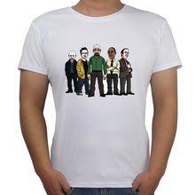 2017 de Una Sola Pieza de Camiseta de la Manera Hombres Breaking Bad Actor Pintado A Mano Diseño de La Camiseta Para Hombre Inconformista Tops Camisetas Spandex(China (Mainland))