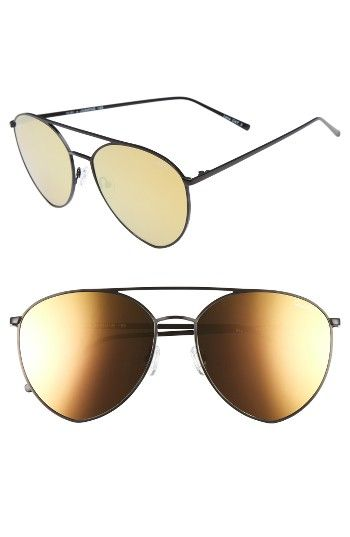 Free shipping and returns on Quay Australia Indio 60mm Mirrored Aviator Sunglasses at Nordstrom.com. Oversized aviator frames with a flatteringly curved topbar make an eye-catching statement thanks to colorful mirrored lenses.